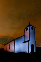 McDougall Church, Morley Alberta at night